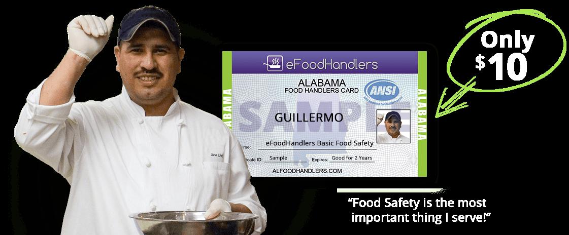 ALABAMA Food Handlers Card eFoodhandlers®. ALABAMA Food Handlers. mobile county health department